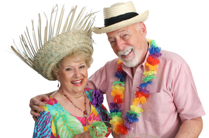 couple having happy cruise thanks to income investing
