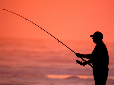ocean fishing at sunset for retirement income